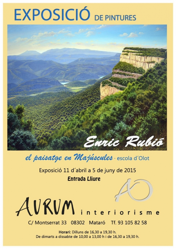 AURUM INTERIORISME  / MATARO del 11 de Abril a 5 de Junio 2015