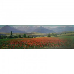 POPPIES IN CERDANYA 120X40 CM.