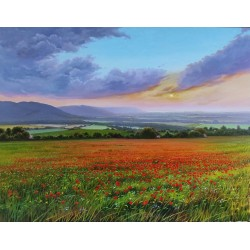 poppies and sunrise 146x114...
