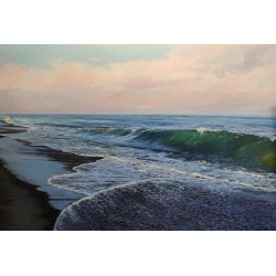 Waves and lights / 120x81 cm