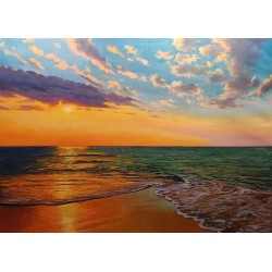 Mediterranean Sunset 100x73...